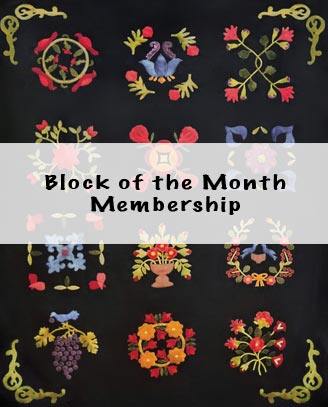 BOM Membership (1847 Baltimore Bride's Quilt)