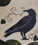 October Crow Penny Rug