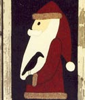 Primitive Santa with Crow Runner