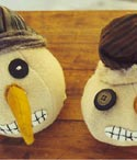 Wooly and Willy Snowman Ornaments